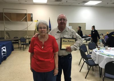 Board Supervisor, Glynn Rutledge and his wife after receiving this year's Farm City Day recognition award